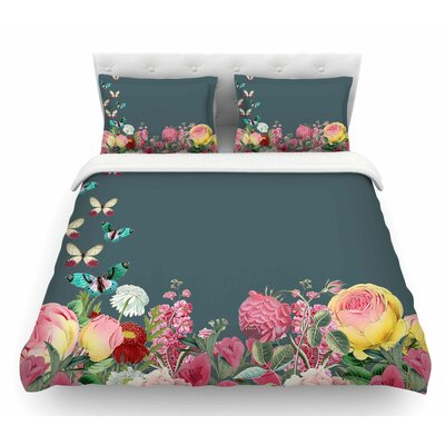 Summer Garden 2 by Suzanne Carter Featherweight Duvet Cover Size: King