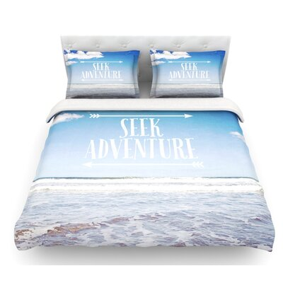 Seek Adventure by Susannah Tucker Beach Featherweight Duvet Cover Size: Queen
