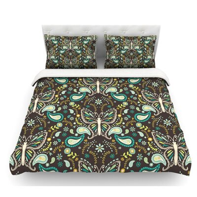 Butterfly Garden by Suzie Tremel Featherweight Duvet Cover Size: Queen