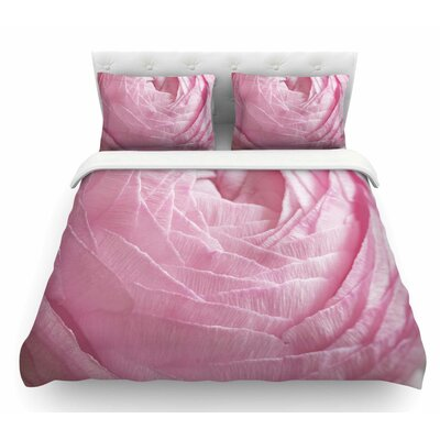 Ranunculus Flower Petals by Suzanne Harford Rose Floral Featherweight Duvet Cover Size: Queen