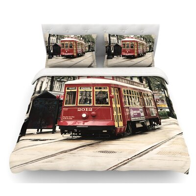Canal Street Car by Sylvia Cook Travel Urban Featherweight Duvet Cover Size: King