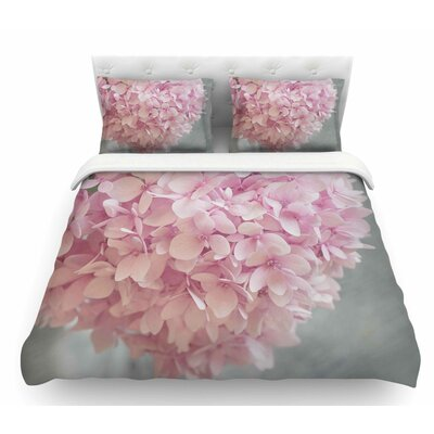 Pastel Hydrangea Flowers by Suzanne Harford Floral Featherweight Duvet Cover Size: Queen