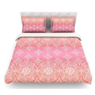 Medallion Ombre by Suzie Tremel Featherweight Duvet Cover Size: King, Color: Pink