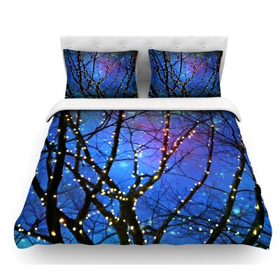 Holiday Lights by Sylvia Cook Christmas Featherweight Duvet Cover Size: Twin