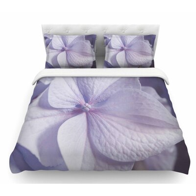 Pastel Hydrangea Flower by Suzanne Harford Floral Featherweight Duvet Cover Size: Queen