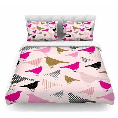 Chirp by Suzanne Carter Bird Featherweight Duvet Cover Size: King
