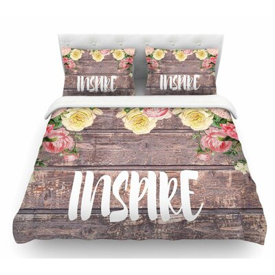 Inspire by Suzanne Carter Contemporary Featherweight Duvet Cover Size: Twin