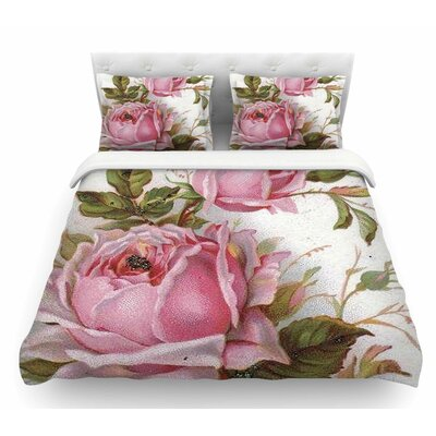 Vintage Rose by Suzanne Carter Floral Featherweight Duvet Cover Size: Queen