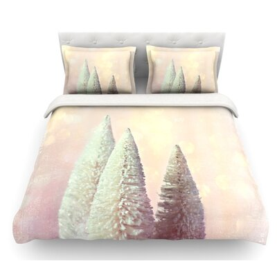 Bottle Brush Trees by Sylvia Cook Featherweight Duvet Cover Size: Twin