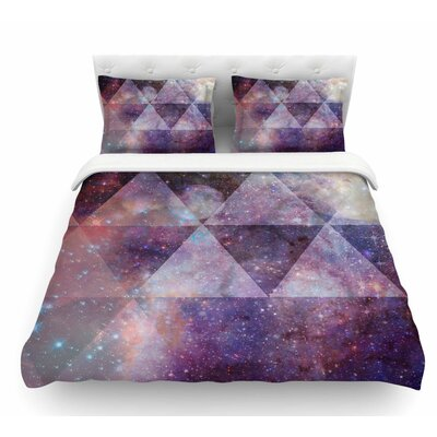 Geometric Stars by Suzanne Carter Featherweight Duvet Cover Size: Queen