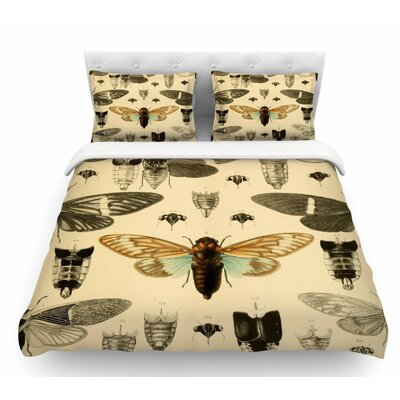 Vintage Cicada by Suzanne Carter Bugs Featherweight Duvet Cover Size: Queen