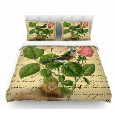Vintage Dream by Suzanne Carter Floral Script Featherweight Duvet Cover Size: Twin