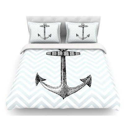 Anchor by Suzanne Carter Featherweight Duvet Cover Size: Twin