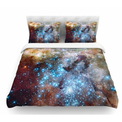 Star Cluster by Suzanne Carter Space Featherweight Duvet Cover Size: Twin