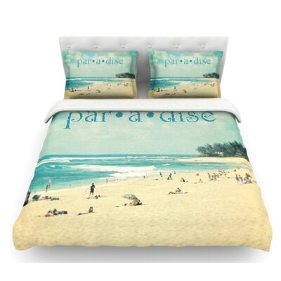 Paradise by Sylvia Cook Featherweight Duvet Cover Size: Twin