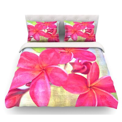 Plumeria by Sylvia Cook Flower Petals Featherweight Duvet Cover Size: King