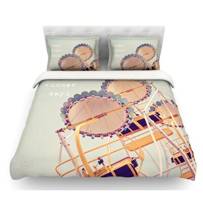 Sweet Summer Days by Susannah Tucker Carnival Featherweight Duvet Cover Size: Queen