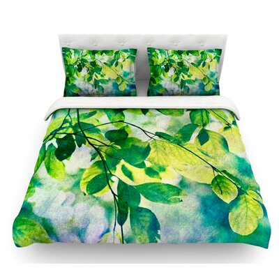 Leaves by Sylvia Cook Featherweight Duvet Cover Size: Twin