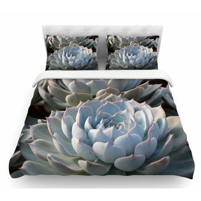 Succulent Love by Suzanne Carter Featherweight Duvet Cover Size: King