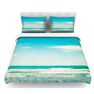 The Ocean by Susannah Tucker Featherweight Duvet Cover Size: King