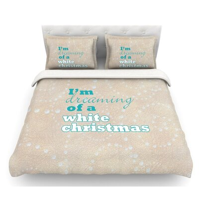 White Christmas by Sylvia Cook Featherweight Duvet Cover Size: King