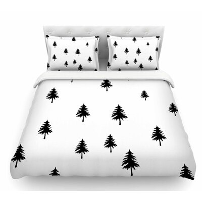 Pine Tree by Suzanne Carter Featherweight Duvet Cover Size: Queen