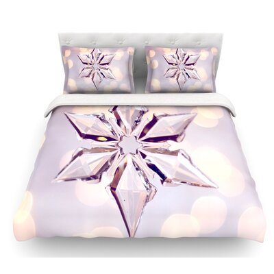 Starbright by Sylvia Cook Holiday Featherweight Duvet Cover Size: Queen