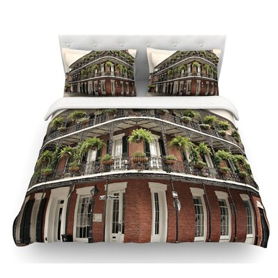 New Orleans Street Corner by Sylvia Cook Featherweight Duvet Cover Size: Twin