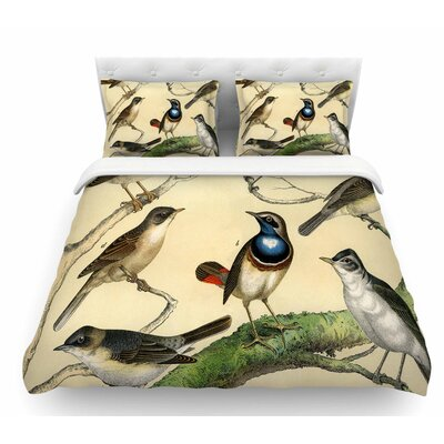 Vintage Birds by Suzanne Carter Nature Featherweight Duvet Cover Size: Twin