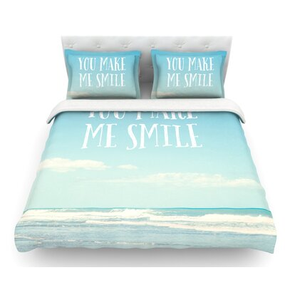 You Make Me Smile by Susannah Tucker Beach and Sky Featherweight Duvet Cover Size: Twin
