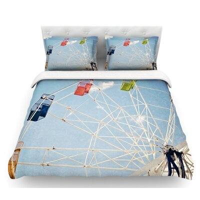 The Show Came to Town by Susannah Tucker Carnival Featherweight Duvet Cover Size: Twin