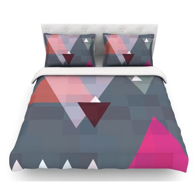 Geo II by Suzanne Carter Geometric Featherweight Duvet Cover Size: Twin