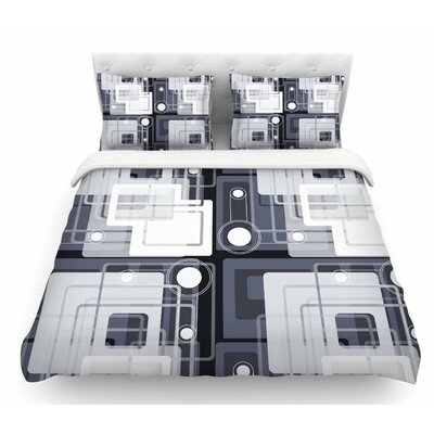 Art Deco by Suzanne Carter Featherweight Duvet Cover Size: Queen