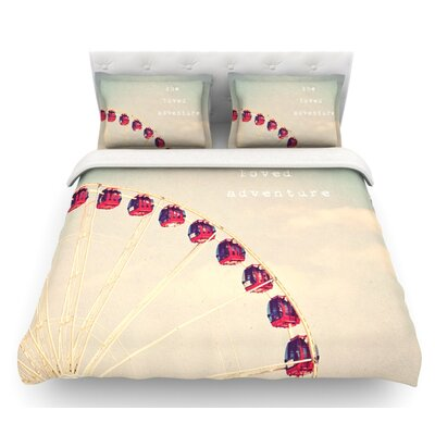 She Loved Adventure by Susannah Tucker Ferris Wheel Featherweight Duvet Cover Size: Queen