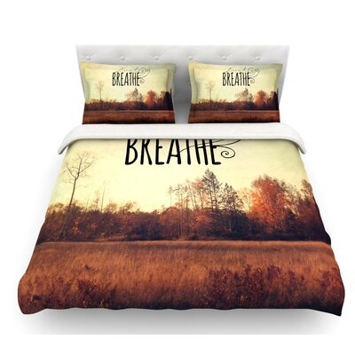 Just Breathe by Sylvia Cook Featherweight Duvet Cover Size: Twin