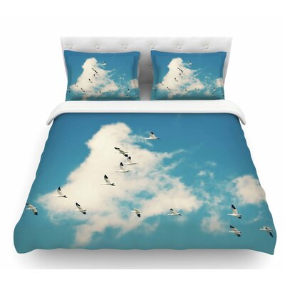 Snow Geese by Sylvia Cook Featherweight Duvet Cover Size: King