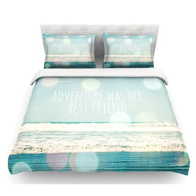 Adventure Was Her Best Friend by Susannah Tucker Featherweight Duvet Cover Size: Twin