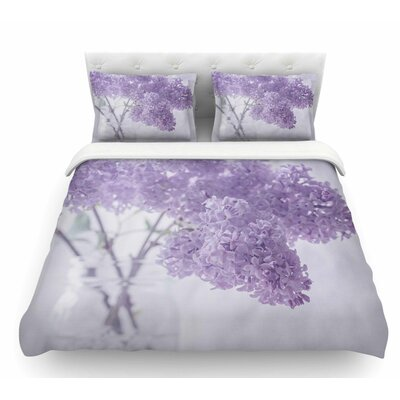 Lilacs by Suzanne Harford Floral Featherweight Duvet Cover Size: Queen