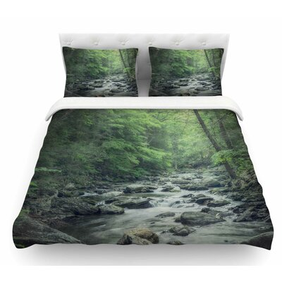 Misty Forest Stream by Suzanne Harford Nature Featherweight Duvet Cover Size: King