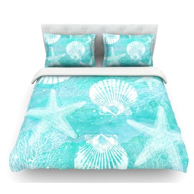Seaside by Sylvia Cook Featherweight Duvet Cover Size: Queen