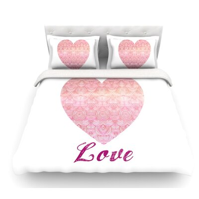 Love by Pom Graphic Design Featherweight Duvet Cover Size: Queen