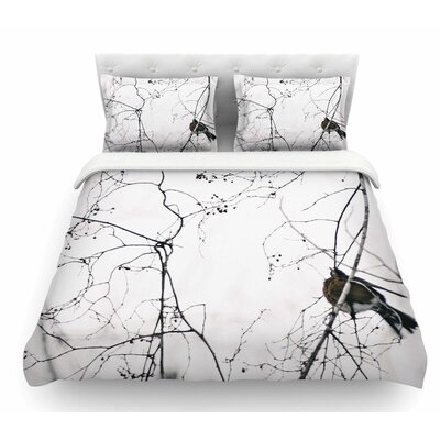 Vintage Bird at Dusk by Qing Ji Featherweight Duvet Cover Size: King