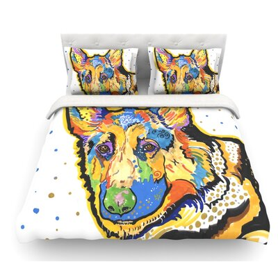 Floyd by Rebecca Fischer German Shepard Featherweight Duvet Cover Size: Queen