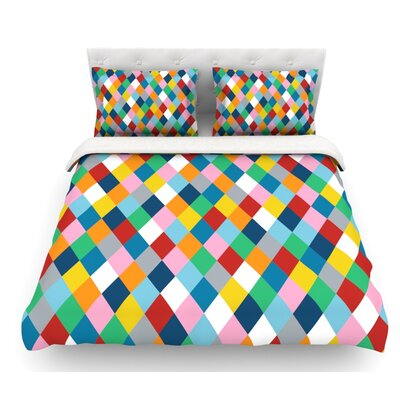 Harlequin Zoom by Project M Featherweight Duvet Cover Size: Queen
