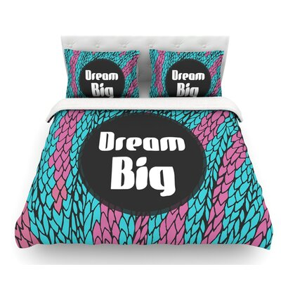 Dream Big by Pom Graphic Design Featherweight Duvet Cover Size: Queen