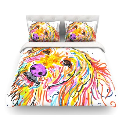 Koda by Rebecca Fischer Labradoodle Featherweight Duvet Cover Size: Queen