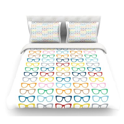 Rainbow Specs by Project M Featherweight Duvet Cover Size: King