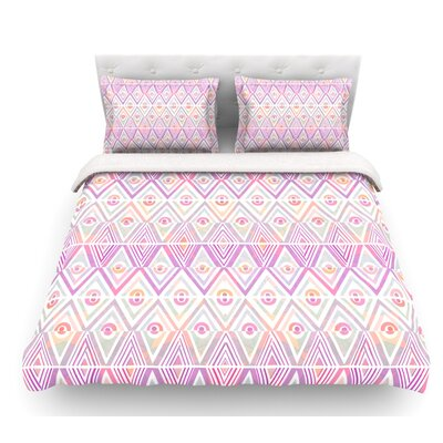 Soft Petal Tribal by Pom Graphic Design Featherweight Duvet Cover Size: King