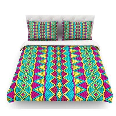 Tribal Soul II by Pom Graphic Design Featherweight Duvet Cover Size: Queen