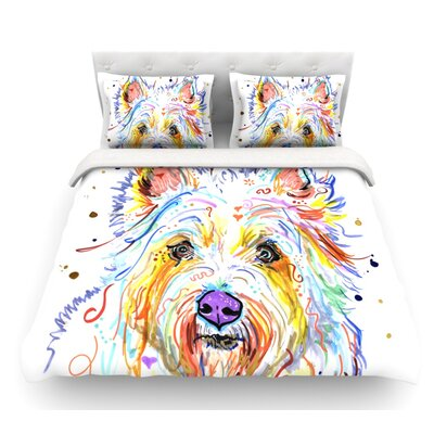 Bella by Rebecca Fischer Scottish Terrier Featherweight Duvet Cover Size: King